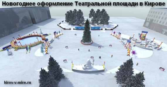 Театральная площадь в Кирове