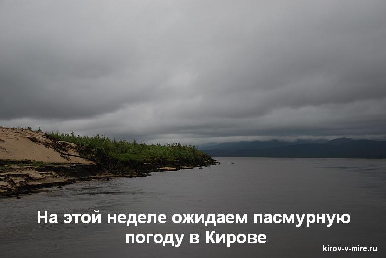 Ожидаем пасмурную погоду в Кирове