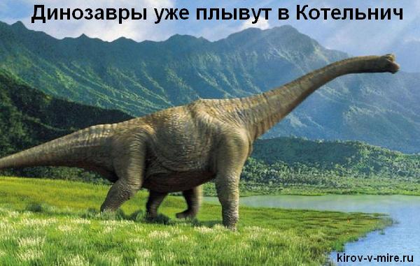 Динозавры уже плывут в Котельнич