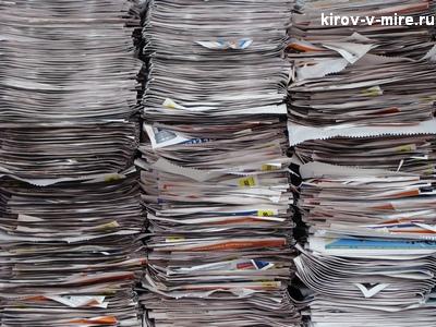 «Бумажный бум» в Кирове сбор макулатуры