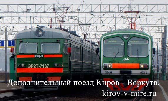 поезд Киров-Воркута