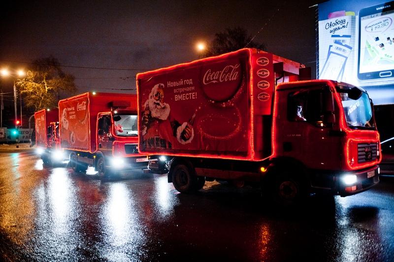 Маршрут каравана Coca-Cola в Кирове 25 декабря