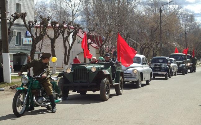 Парад Победы в Нововятске 2013