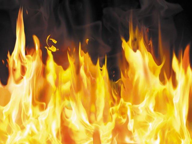 Пожар в гусеве 04.05.2015