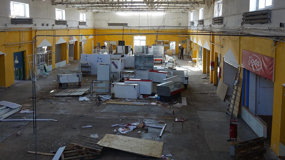 На Октябрьском рынке начали реконструкцию
