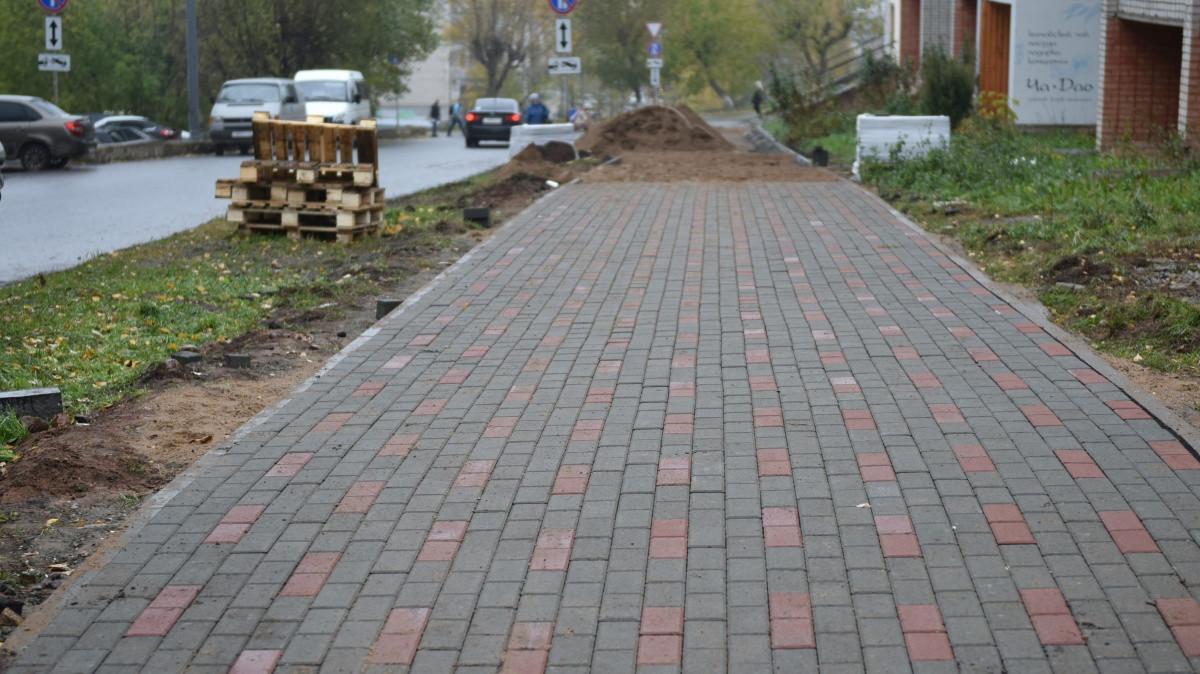 В Кирове закончили ремонтировать 30 пешеходных зон