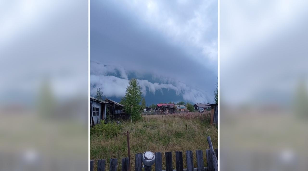 Жители Мурашинского района наблюдали необычные облака